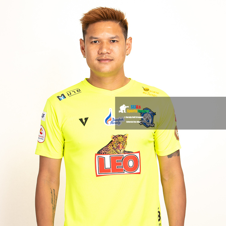 THAILAND - JUNE 03: Narit Taweekul #1 of Chiangmai FC on June 03, 2019.<br /> .<br /> .<br /> .<br /> (Photo by: Naratip Golf Srisupab/SEALs Sports Images/MB Media Solutions)