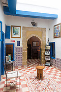 ESSAOUIRA, MOROCCO - May 11th 2018 - Synagogue Slat Lkahal in Essaouira, Southern Morocco