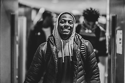 Jalan McCloud of Bristol Flyers arrives at SGS Wise Arena prior to kick off  - Photo mandatory by-line: Ryan Hiscott/JMP - 03/11/2018 - BASKETBALL - SGS Wise Arena - Bristol, England - Bristol Flyers v Newcastle Eagles - British Basketball League Championship