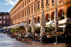 Cafes in the Place du Capitol, Toulouse, France<br /> <br /> (c) Andrew Wilson | Edinburgh Elite media