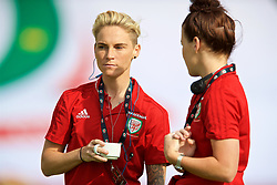 NEWPORT, WALES - Tuesday, June 12, 2018: Wales' Jessica Fishlock on the pitch before the FIFA Women's World Cup 2019 Qualifying Round Group 1 match between Wales and Russia at Newport Stadium. (Pic by David Rawcliffe/Propaganda)
