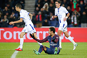 Neymar da Silva Santos Junior - Neymar Jr (PSG) on the floor during the French Championship Ligue 1 football match between Paris Saint-Germain and ESTAC Troyes on November 29, 2017 at Parc des Princes stadium in Paris, France - Photo Stephane Allaman / ProSportsImages / DPPI
