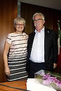 08/10/2014 Rome, election of the new CISL union general secretary. Annamaria Furlan, Raffaele Bonanni - © PIERPAOLO SCAVUZZO
