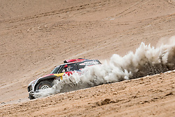 Stephane Peterhansel (FRA) of X-raid MINI JCW Team races during stage 04 of Rally Dakar 2019 from Arequipa to o Tacna, Peru on January 10, 2019 // Marcelo Maragni/Red Bull Content Pool // AP-1Y39E95UD1W11 // Usage for editorial use only // Please go to www.redbullcontentpool.com for further information. //