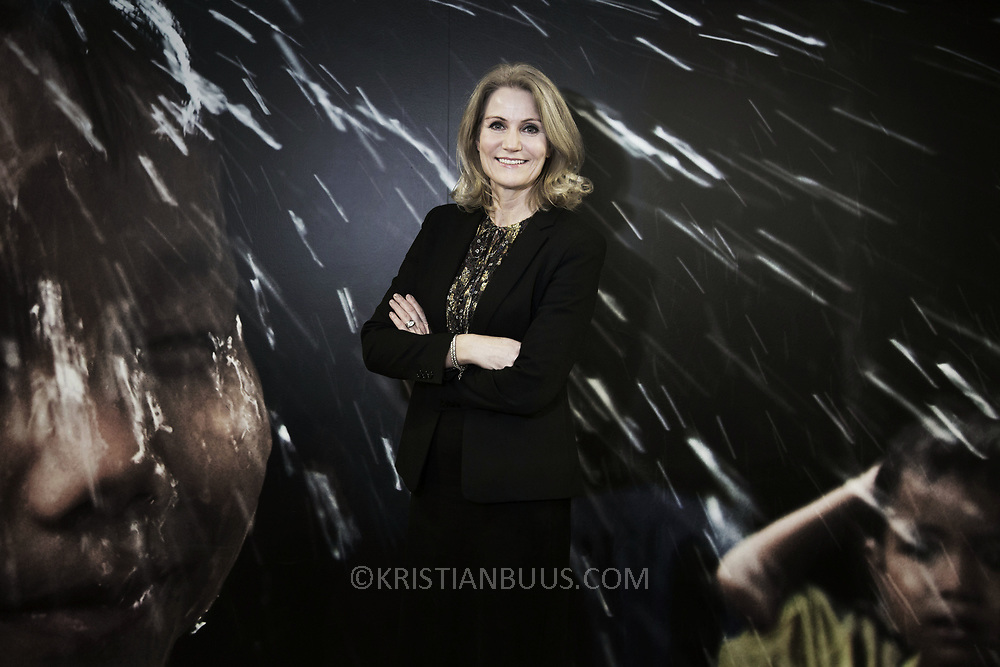 Helle Thorning-Schmidt, former Danish Prime Minister, current CEO at Save the Children. Photographed in Central London, UK.