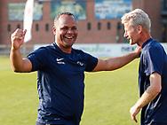 FODBOLD: Cheftræner Ricki Royal (Snekkersten) jubler efter finalesejren i Seriepokalen mellem Hundige Boldklub og Snekkersten IF den 18. maj 2017 på Brøndby Stadion. Foto: Claus Birch
