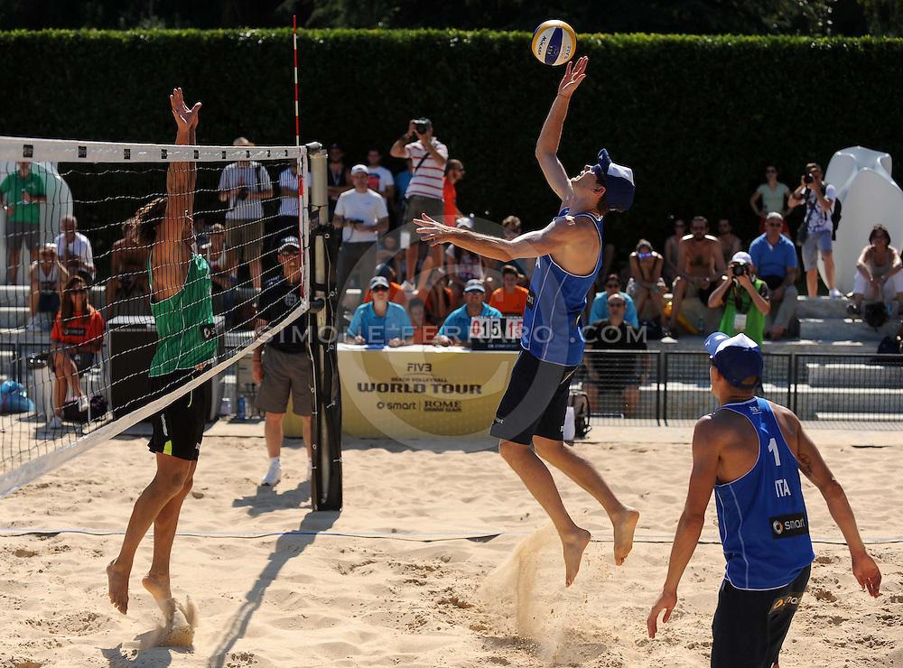 Roma, 19 giugno 2013<br /> Beach Volley Swatch FIVB World Tour - Smart Grand Slam Rome 2013. Foro Italico.<br /> Giorno 2 - Uomini - Primo turno Pool H<br /> Tomatis-Ingrosso P. (ITA) vs Sorokins-Smedins (LAT) 1-2 (21-18; 23-25; 9-15)<br /> foto di Simone Ferraro / GMT