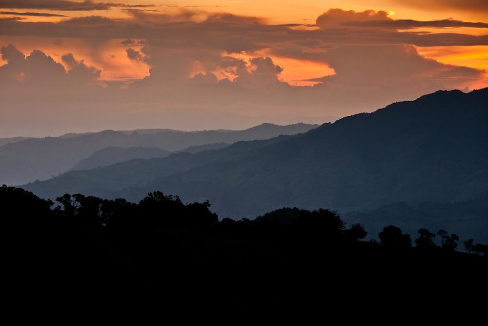 Sunset in Sonson, Antioquia