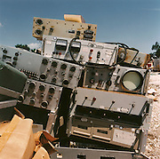 NASA Space Junk Auction.Oscilloscopes bought for scrap.One of Charles Bell's items for auction, Oscilloscopes and other electronics were bought for scrap. Assorted oscilloscopes and electronic gadgetry that Charles Bell amassed over the years. Items like these were partly responsible for many innovative technology that NASA wanted developing for the space programme including fibre optics that Charles Bell invented. Rather than preserving it for technology museums where it truly belonged, it has been bought as scrap, never to be seen again and other electronics were bought for scrap.