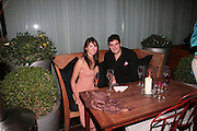 Katherine Munsey ( ?)  and Zafar Rushdie, Laurent Perrier Pop Art Pink party. Suka at Sanderson. Berners St. London. 25 April 2007.  -DO NOT ARCHIVE-© Copyright Photograph by Dafydd Jones. 248 Clapham Rd. London SW9 0PZ. Tel 0207 820 0771. www.dafjones.com.