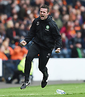15/03/15 SCOTTISH LEAGUE CUP FINAL<br /> DUNDEE UTD v CELTIC<br /> HAMPDEN - GLASGOW<br /> Celtic manager Ronny Deila goes wild as his side take a first-half lead