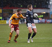 Dundee's Greg Stewart and Motherwell's Mark O'Brien -  Dundee v Motherwell, SPFL Premiership at Dens Park <br /> <br /> <br />  - &copy; David Young - www.davidyoungphoto.co.uk - email: davidyoungphoto@gmail.com