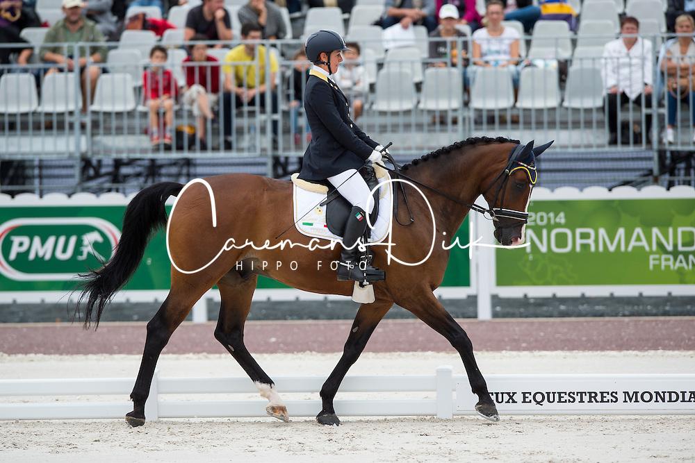 Antonella Cecilia, (ITA), Ubacho - Individual Test Grade Ib Para Dressage - Alltech FEI World Equestrian Games™ 2014 - Normandy, France.<br /> © Hippo Foto Team - Jon Stroud <br /> 25/06/14