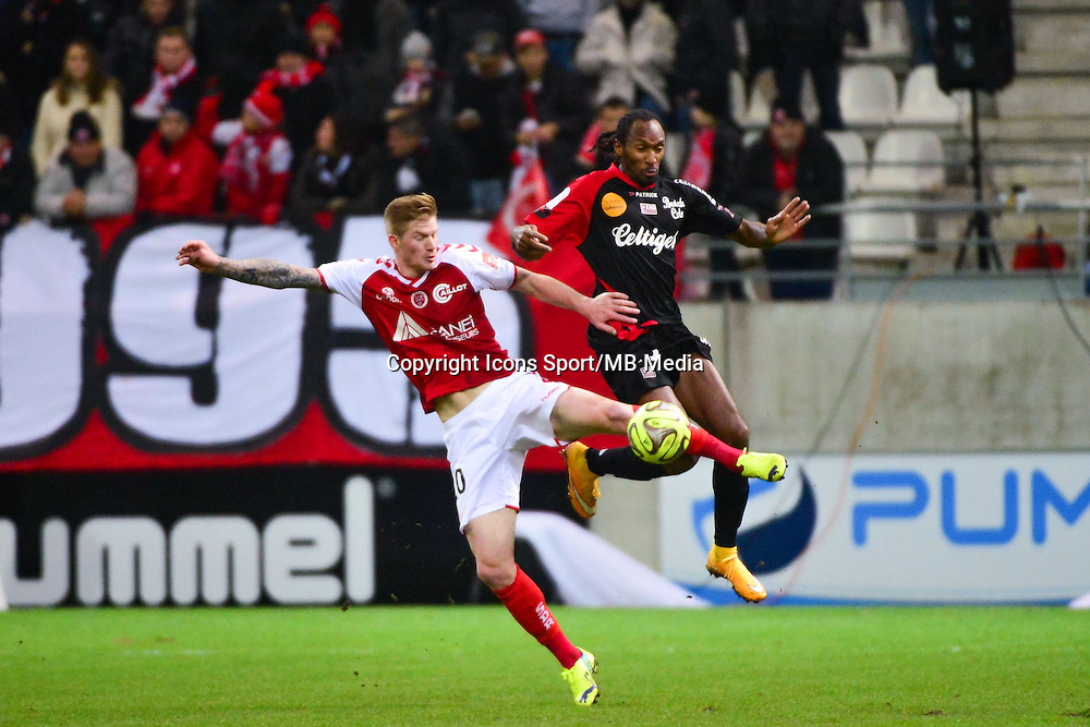 Gaetan CHARBONNIER / Jeremy SORBON - 07.12.2014 - Reims / Guingamp - 17eme journee de Ligue 1 -<br />