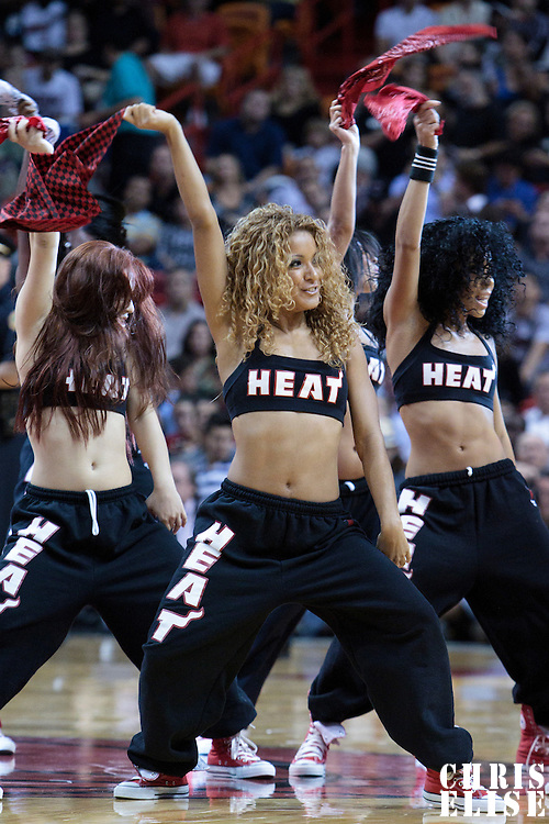 17 November 2010: Heat Dancers perform during the Miami Heat 123-96 victory over the Phoenix Suns at the AmericanAirlines Arena, Miami, Florida, USA.