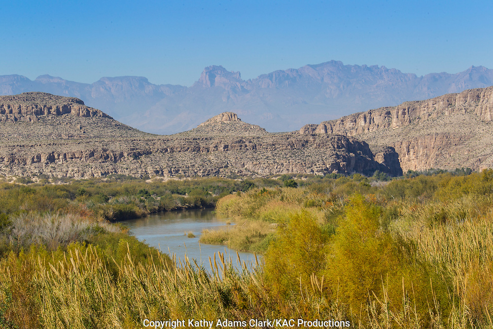 Big Bend National Park, Chisos Mountains in distance, Chihuahuan Desert, west Texas