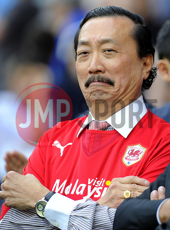 Cardiff City owner, Tan Sri Vincent Tan  - Photo mandatory by-line: Joe Meredith/JMP - Tel: Mobile: 07966 386802 25/08/2013 - SPORT - FOOTBALL - Cardiff City Stadium - Cardiff -  Cardiff City V Manchester City - Barclays Premier League