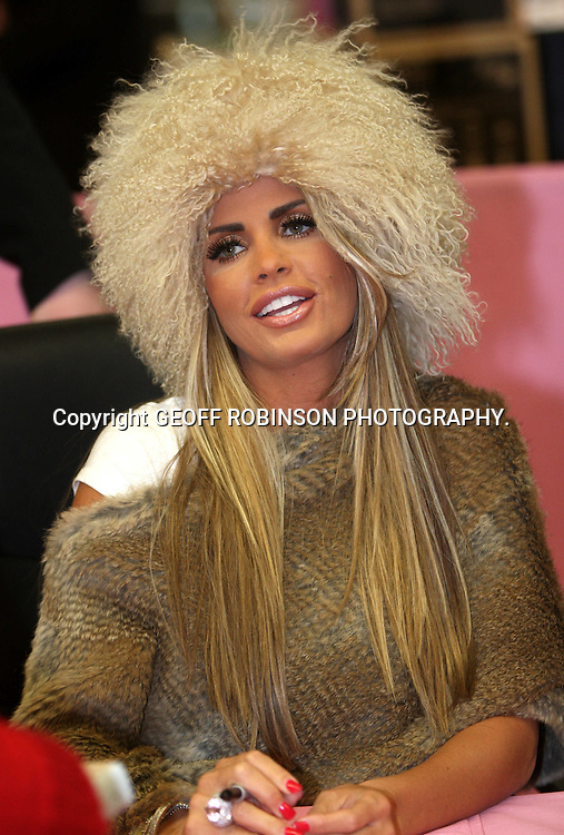 "KATIE PRICE  (JORDAN) AT ASDA MILTON KEYNES,BUCKS,ON THURSDAY AFTERNOON DOING HER BOOK SIGNING.. Fans queued to see model Katie Price at her last book signing for her fourth autobiography today (Thurs)...The 32-year-old was promoting her new book You Only Live Once at the Asda supermarket in Milton Keynes, Bucks...The book, which is dedicated to ex-husband Peter Andre, goes into detail about their split and her relationship with Alex Reid, who she has now separated from...In the past Katie has brought her children along to book signings but today there was no sign of them...Yesterday (Wed) she posted a statement on her website saying she was removing Princess and Junior from the public eye...""Many people have asked me about or commented on my attempts to remove Junior and Princess from the public eye and in particular my decision that they will not feature in my Living TV Show or photo-shoots...""Firstly, I want to make it clear that if paparazzi pictures appear of Junior and Princess they will be without my permission. ..""I am hopeful that the paparazzi and the media organisations that publish their pictures will respect what I am trying to achieve...""My decision to do this is made purely in the interests of Junior and Princess."