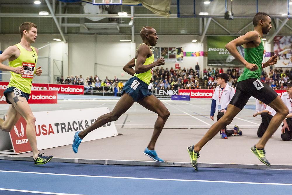 New Balance Indoor Grand Prix Track & FIeld:  men's 3000 meters Bernard Lagat, USA, Nike, 40