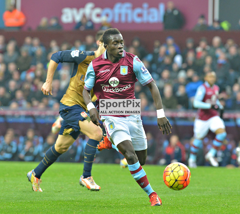 Villa's Idrissa Gana in action against Arsenal.....(c) BILLY WHITE | SportPix.org.uk