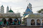 Courtyard within the Dargah Shareef shrine in Nagore, South India.