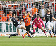 Dundee's Paul McGinn tackles Dundee United's Gary Mackay-Steven - Dundee v Dundee United, SPFL Premiership at Dens Park<br /> <br />  - &copy; David Young - www.davidyoungphoto.co.uk - email: davidyoungphoto@gmail.com