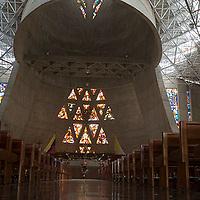 Interior del Templo Votivo Virgen de la Coromoto, Estado Portuguesa, Venezuela.