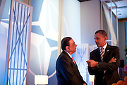 20.MAY.2012. CHICAGO<br /> <br /> PRESIDENT BARACK OBAMA TALKS WITH PRESIDENT ASIF ALI ZARDARI OF PAKISTAN BEFORE A MEETING ON AFGHANISTAN WITH HEADS OF STATE AND GOVERNMENT DURING THE NATO SUMMIT IN CHICAGO, ILL., MAY 21, 2012.  <br /> <br /> BYLINE: EDBIMAGEARCHIVE.CO.UK<br /> <br /> *THIS IMAGE IS STRICTLY FOR UK NEWSPAPERS AND MAGAZINES ONLY*<br /> *FOR WORLD WIDE SALES AND WEB USE PLEASE CONTACT EDBIMAGEARCHIVE - 0208 954 5968*