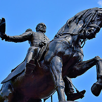 Tomás de Herrera Equestrian Statue in Casco Viejo, Panama City, Panama<br />