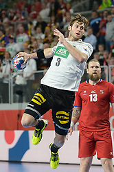 Uwe Gensheimer of Germany during handball match between National teams of Germany and Czech Republic on Day 2 in Main Round of Men's EHF EURO 2018, on January 19, 2018 in Arena Varazdin, Varazdin, Croatia. Photo by Mario Horvat / Sportida