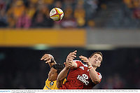 29 June 2013; George North, British & Irish Lions, in action against Israel Folau, Australia. British & Irish Lions Tour 2013, 2nd Test, Australia v British & Irish Lions. Ethiad Stadium, Docklands, Melbourne, Australia. Picture credit: Stephen McCarthy / SPORTSFILE