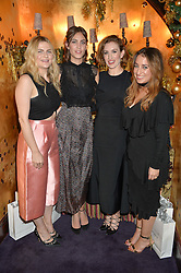 Left to right, AMY LAWRENSON, ALEXA CHUNG, KATHERINE POWER and HANNAH ALMASSI at the UK launch of WhoWhatWear UK held at Loulou's, Hertford Street, London on 24th November 2015.