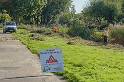 Plantsoenonderhoud Rotterdam Alexander, bord, Netherlands