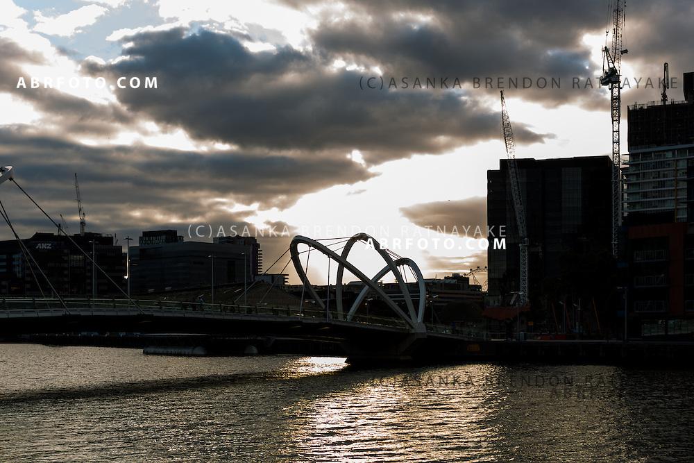 A bridge in south wharf in Melbourne Victoria Australia