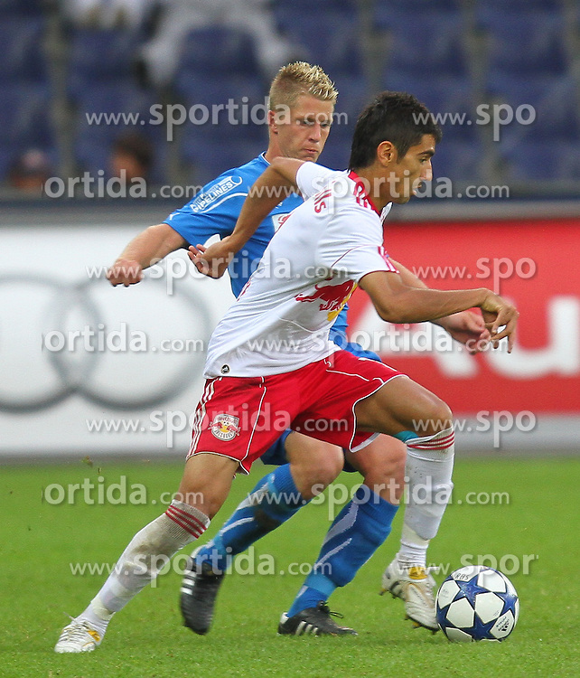 07.08.2010, Red Bull Arena, Salzburg, AUT, 1. FBL, FC Red Bull Salzburg vs SC Magna Wr. Neustadt, im Bild Gonzalo Zarate, Red Bull Salzburg, Thonhofer Christian, SC Magna Wiener Neustadt, EXPA Pictures © 2010, PhotoCredit: EXPA/ D. Scharinger / SPORTIDA PHOTO AGENCY