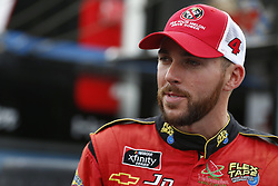 September 27, 2018 - Concord, North Carolina, United States of America - Ross Chastain (4) hangs out in the garage during practice for the Drive for the Cure 200 at Charlotte Motor Speedway in Concord, North Carolina. (Credit Image: © Chris Owens Asp Inc/ASP via ZUMA Wire)