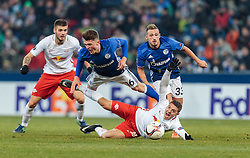 08.12.2016, Red Bull Arena, Salzburg, AUT, UEFA EL, FC Red Bull Salzburg vs Schalke 04, Gruppe I, im Bild Duje Caleta Car (FC Red Bull Salzburg), Fabian Reese (FC Schalke 04), Donis Avdijaj (FC Schalke 04), Josip Radosevic (FC Red Bull Salzburg) // during the UEFA Europa League group I match between FC Red Bull Salzburg and Schalke 04 at the Red Bull Arena in Salzburg, Austria on 2016/12/08. EXPA Pictures © 2016, PhotoCredit: EXPA/ JFK