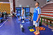 """Team Banco di Sardegna Dinamo Sassari<br /> Trofeo Tirrenia Città di Sassari """"Mimì Anselmi""""<br /> Banco di Sardegna Dinamo Sassari - Betaland Capo D'Orlando<br /> Sassari, 09/09/2017<br /> Foto L.Canu / Ciamillo-Castoria"""