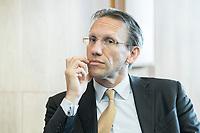 18 JUN 2018, BERLIN/GERMANY:<br /> Dr. Joerg Kukies, Staatssekretaer im Bundesministerium der Finanzen, Veranstaltung Wirtschaftsforum der SPD: &quot;Finanzplatz Deutschland 2030 - Vision, Strategie, Massnahmen!&quot;, Haus der Commerzbank<br /> IMAGE: 20180618-01-104<br /> KEYWORDS: J&ouml;rg Kukies