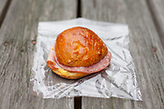Ham & Salami Sandwich on Deb's homeade Challah roll at Blackwater Falls State Park (CODFREE) - OFF: WV