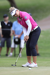 April 13, 2018 - Kapolei, HI, U.S. - KAPOLEI, HI - APRIL 13: Brooke Henderson hits her putt on the ninth hole during the third round of the LPGA Tour LOTTE Championship at the Ko Olina Golf Club, Friday, April 13, 2018, in Kapolei, HI. (Photo by Darryl Oumi/Icon Sportswire) (Credit Image: © Darryl Oumi/Icon SMI via ZUMA Press)