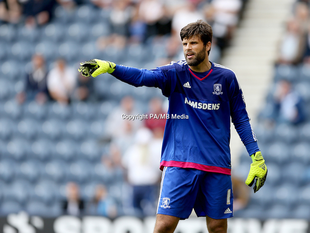 Middlesbrough goalkeeper Dimitrios Konstantopoulos