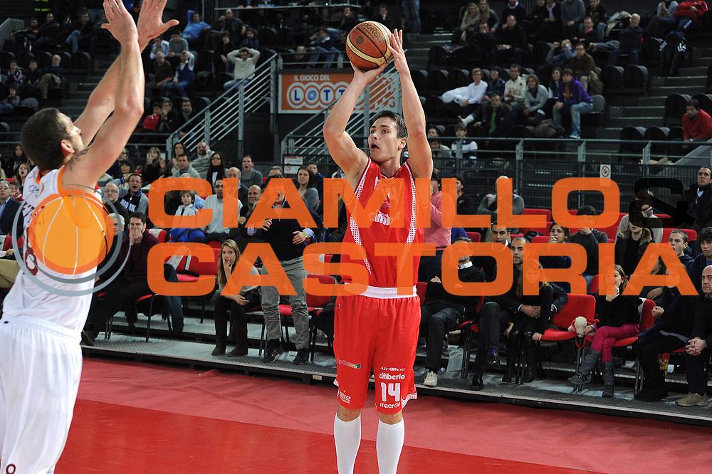 DESCRIZIONE : Roma Lega A 2010-11 Lottomatica Roma Cimberio Varese<br /> GIOCATORE : Kristjan Kangur<br /> SQUADRA : Cimberio Varese <br /> EVENTO : Campionato Lega A 2010-2011 <br /> GARA : Lottomatica Roma Cimberio Varese <br /> DATA : 05/12/2010<br /> CATEGORIA : Tiro<br /> SPORT : Pallacanestro <br /> AUTORE : Agenzia Ciamillo-Castoria/ GiulioCiamillo<br /> Galleria : Lega Basket A 2010-2011 <br /> Fotonotizia : Roma Lega A 2010-11 Lottomatica Roma Cimberio Varese<br /> Predefinita :