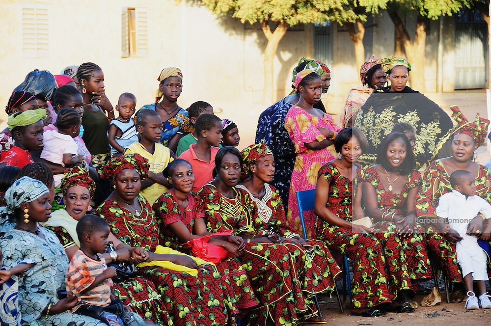A group of women at the 13th anniversary of the association for the defence of the women rights in Banakabougou, a Bamako district.