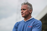 Keith Curle (Manager) (Carlisle United) watches the game during the EFL Sky Bet League 2 match between Hartlepool United and Carlisle United at Victoria Park, Hartlepool, England on 14 April 2017. Photo by Mark P Doherty.