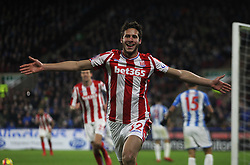 Ramadan Sobhi of Stoke City celebrates after scoring his sides first goal - Mandatory by-line: Jack Phillips/JMP - 26/12/2017 - FOOTBALL - The John Smith's Stadium - Huddersfield, England - Huddersfield Town v Stoke City - English Premier League