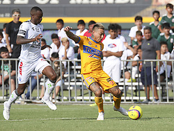 July 8, 2018 - Round Rock, USA - Tigres forward Eduardo Vargas (9) prepares to take a shot during a Liga MX friendly match between Tigres and Pachuca at Dell Diamond in Round Rock, Texas, on July 8, 2018. (Credit Image: © Scott W. Coleman via ZUMA Wire)