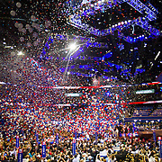 Balloons rain down after the Mitt Romney's acceptance speech during day four of the RNC at the Tampa Bay Times Forum in Tampa Thurs. Aug. 31, 2012. Florida Annual Report Photography, Florida Commercial Photography, Corporate Event Photography Republican Party, GOP