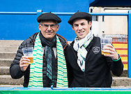Pau fans enjoying the pre match atmosphere<br /> <br /> Photographer Simon King/Replay Images<br /> <br /> European Rugby Challenge Cup - Semi Final - Cardiff Blues v Pau - Saturday 21st April 2018 - Cardiff Arms Park - Cardiff<br /> <br /> World Copyright © Replay Images . All rights reserved. info@replayimages.co.uk - http://replayimages.co.uk