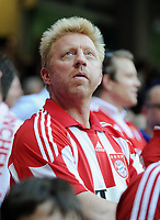 Fotball<br /> Tyskland<br /> 22.05.2010<br /> Foto: Witters/Digitalsport<br /> NORWAY ONLY<br /> <br /> Boris Becker im Bayern Trikot<br /> <br /> Champions League Finale 2010, FC Bayern München - Inter Milan